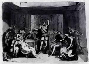 Prospero Minghetti – Scena storica