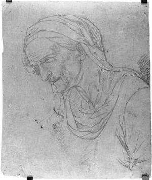 Prospero Minghetti – Studio di busto di vecchio