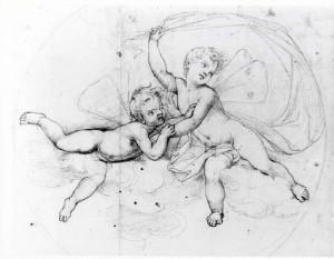 Prospero Minghetti – Studio di due putti
