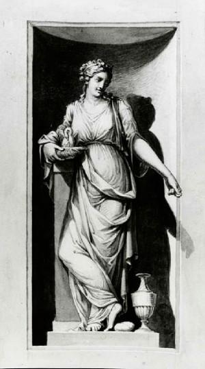 Prospero Minghetti – Studio  di figura allegorica femminile