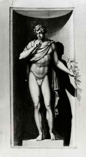 Prospero Minghetti – Studio di figura allegorica maschile