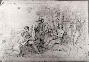 Prospero Minghetti – Studio per Apollo tra i Pastori