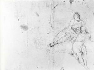 Prospero Minghetti – Studio per Diana e Endimione