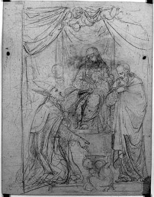 Prospero Minghetti – Studio per pala d'altare
