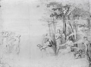 Prospero Minghetti – Studio per scena mitologica