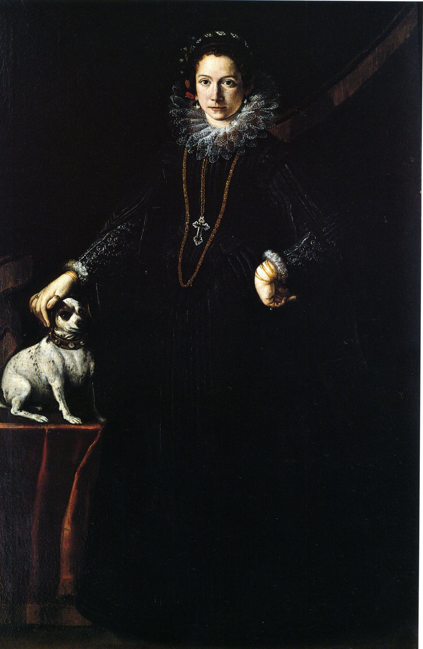 Ritratto di gentildonna con cane