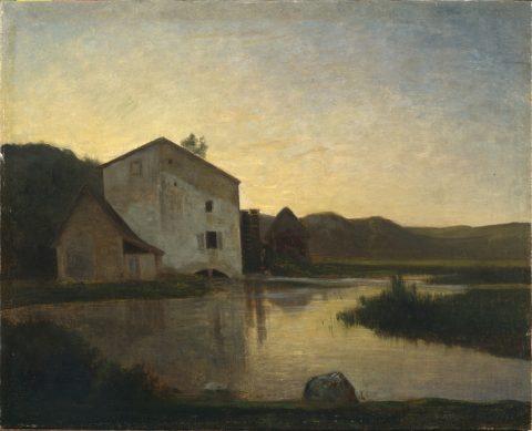 Antonio Fontanesi, Il mulino, 1858 circa, olio su tela, Torino, Fondazione Torino Musei, GAM - Galleria Civica d'Arte Moderna e Contemporanea