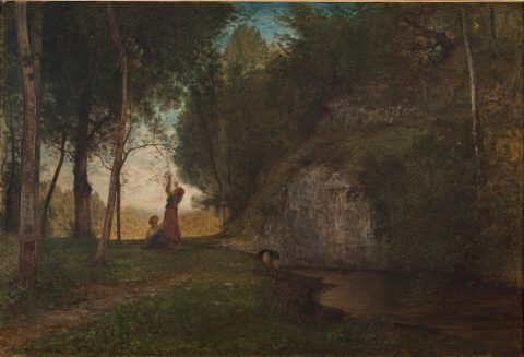 Antonio Fontanesi, La quiete, 1860-1861, olio su tela,Torino, Fondazione Torino Musei, GAM - Galleria Civica d'Arte Moderna e Contemporanea
