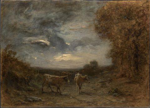 Antonio Fontanesi, Bufera imminente, 1874, olio su tela, 102 x 141 cm.Reggio Emilia, Collezione Giorgio ZamboniFoto di Carlo Vannini