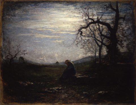 Antonio Fontanesi, La Solitudine, 1875, olio su tela, 115 x 150 cm. Reggio Emilia, Musei Civici Foto di Carlo Vannini