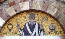 San Vicinio - Mosaico dalla facciata della cattedrale di Sarsina