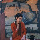 Felice Casorati - Ragazza in collina (Ragazza di Pavarolo) 1937 circa, Torino, GAM-Galleria Civica d'Arte Moderna e Contemporanea, Fondazione Guido ed Ettore De Fornaris