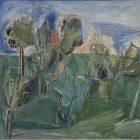 Pompilio Mandelli, Paesaggio, 1952, olio su tela, collezione privata