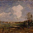 """Antonio Fontanesi, Studio per """"Le nubi"""" (Bozzetto per """"Le nubi""""), 1879-1880, olio su cartone, Torino, GAM-Galleria Civica d'Arte Moderna e Contemporanea"""
